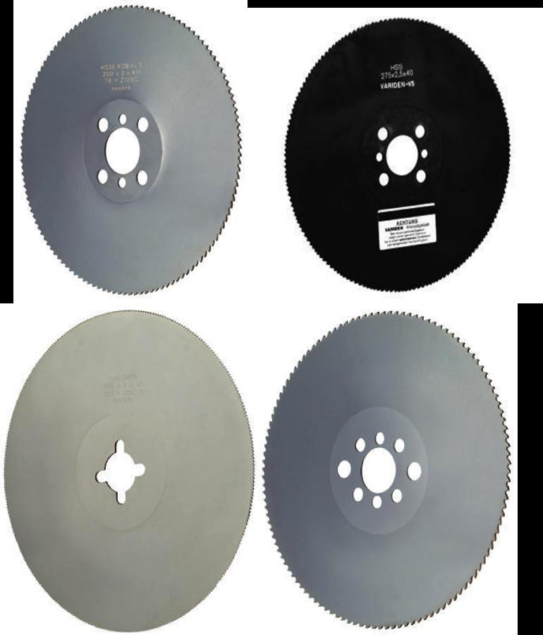 Kapklingor för metallkapning