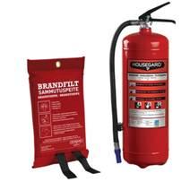 Brandsläckare och brandfilt